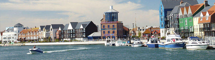 The river arun and look and sea cafe